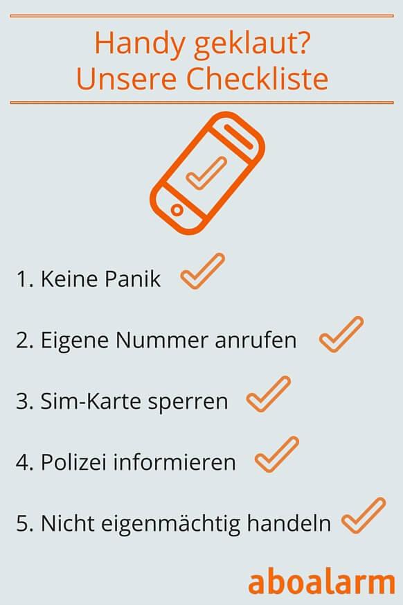 Handy geklaut- Unsere Checkliste