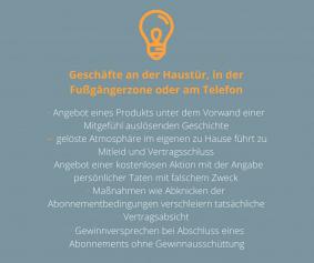 aboalarm Abofallen Liste - Haustür- und Fernabsatzgeschäfte