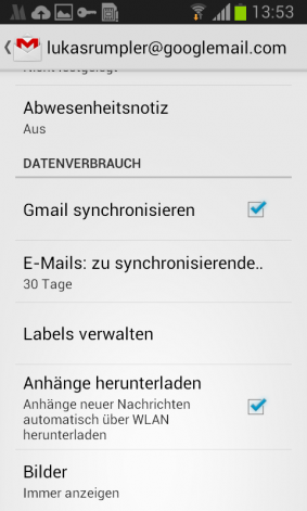 Datenvolumen sparen E-Mails