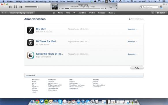 Abos im App-Store kündigen - iTunes