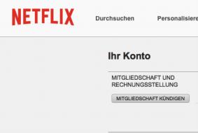 Netflix Konto Kündigen