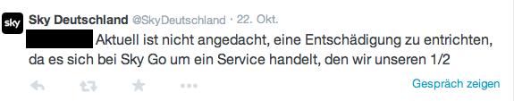 Statement Sky Deutschland 1