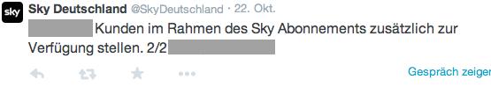 Statement Sky Deutschland 2
