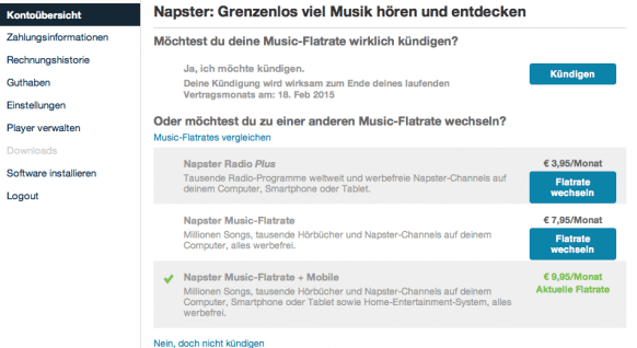 Screenshot Napster 2