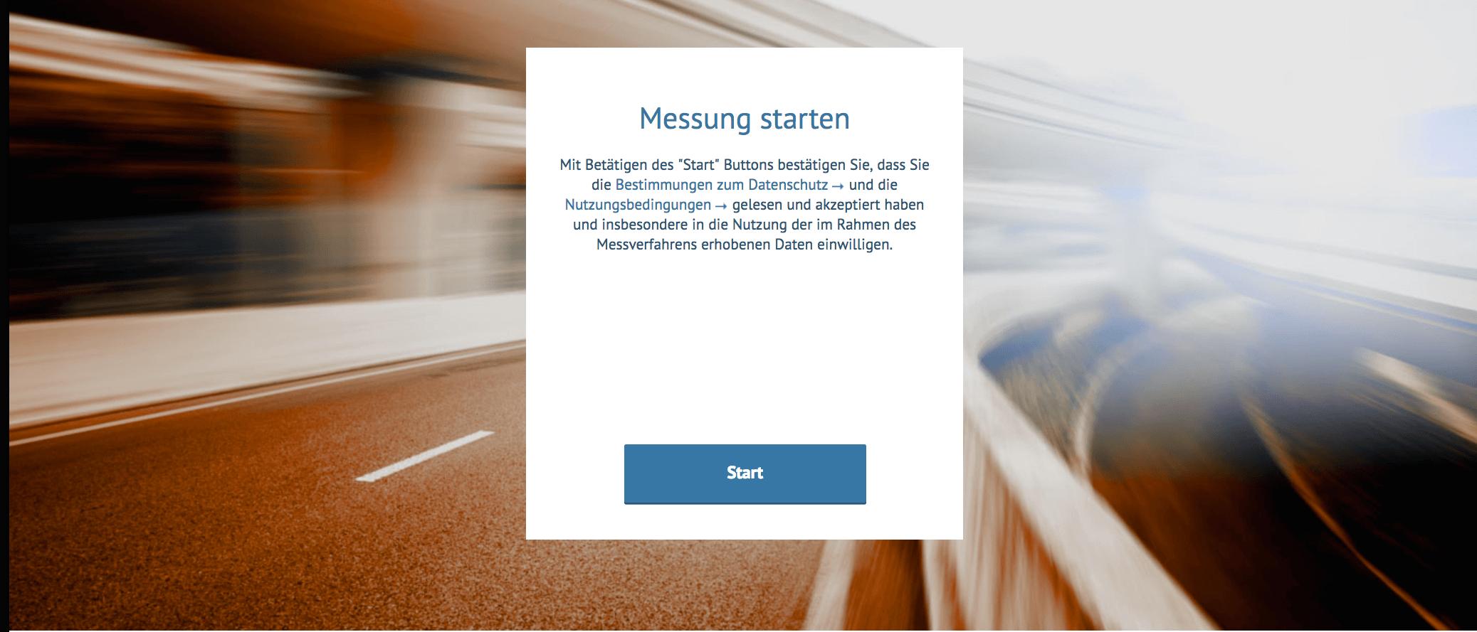 Breitbandmessung Messung starten