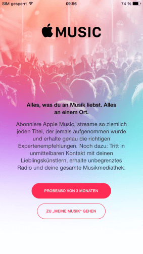 Screenshot Apple Music 1