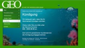 GEO Magazin kündigen Screenshot