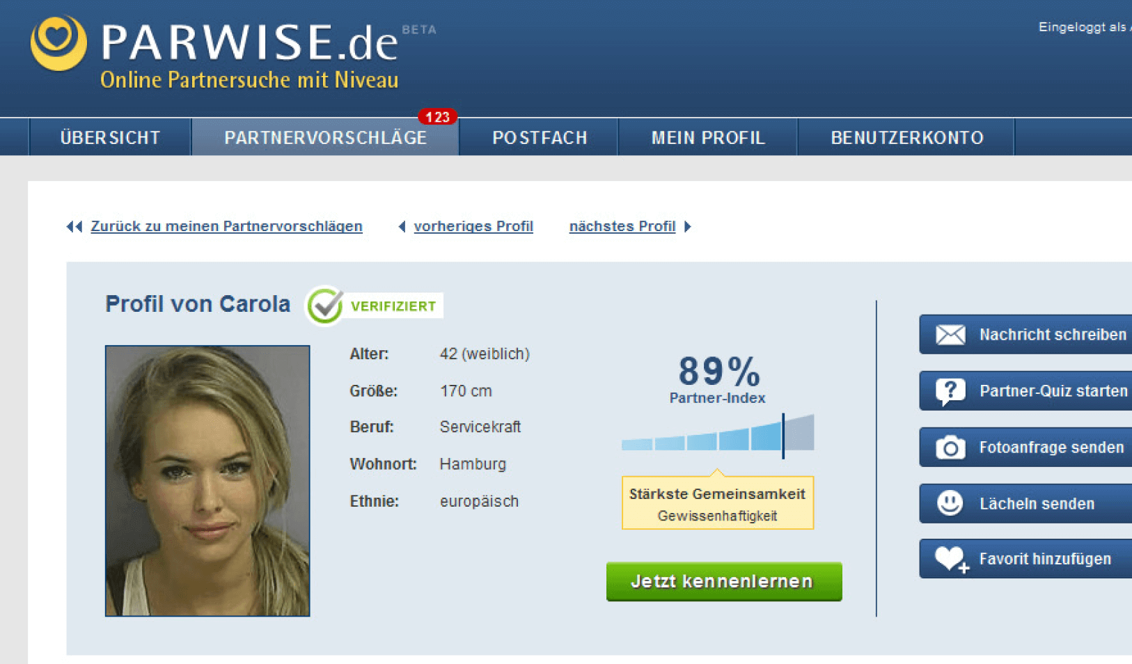 Dating-Website-Profil-Datenbank