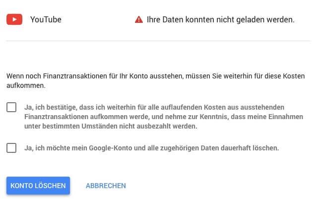 Gmail Konto löschen 5