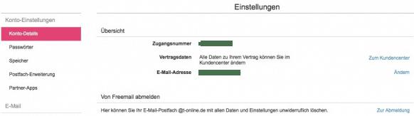 T-Online Email Adresse loeschen - Abmeldung