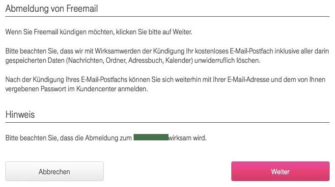 T-Online Account Löschen
