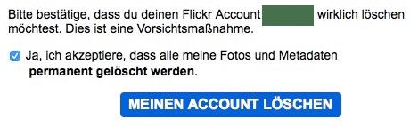 Flickr Account löschen 4