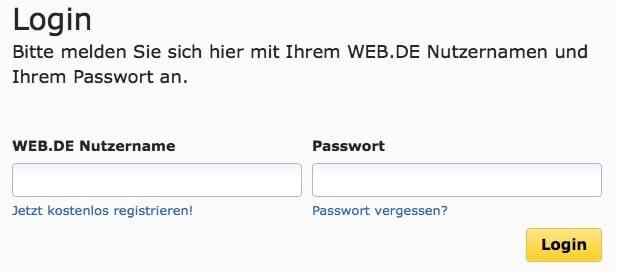 Web.de Email-Adresse löschen 2