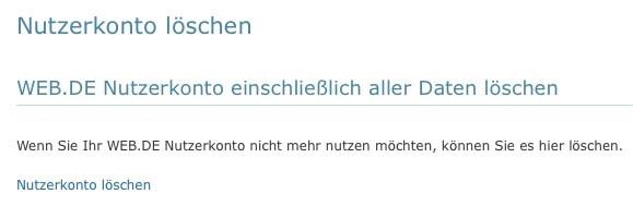 Web.de Email-Adresse löschen 4