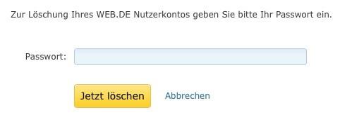 Web.de Email-Adresse löschen 5