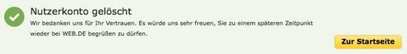 Web.de Email-Adresse löschen 6