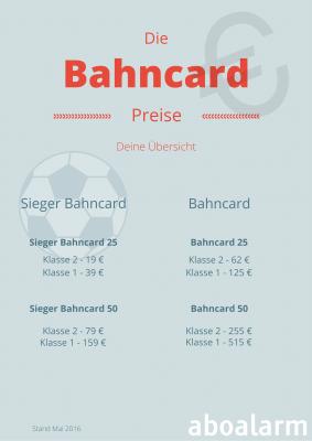 Sieger Bahncard & Bahncard Preise Uebersicht