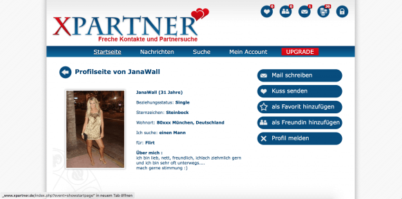 XPartner Screenshot Profil 1