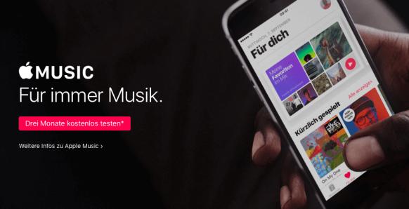 Musikstreamingdienste Vergleich - Apple Music Probeabo