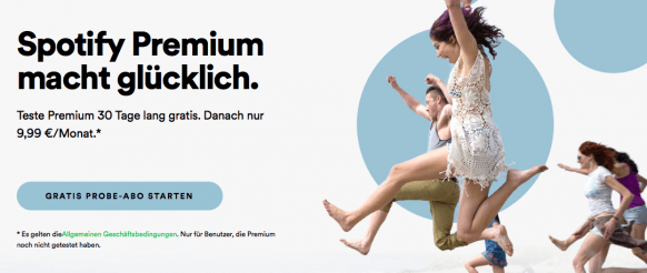 Musikstreamingdienste Vergleich - Spotify Premium