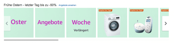 Screenshot Amazon Osterangebot