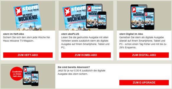 Zeitschriftenabo Kombi