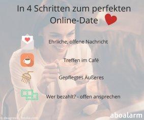 In 4 Schritten zum perfekten Online-Date