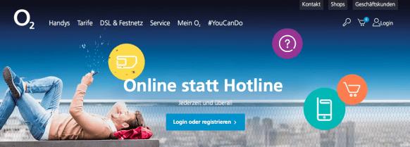 O2 Online statt Hotline