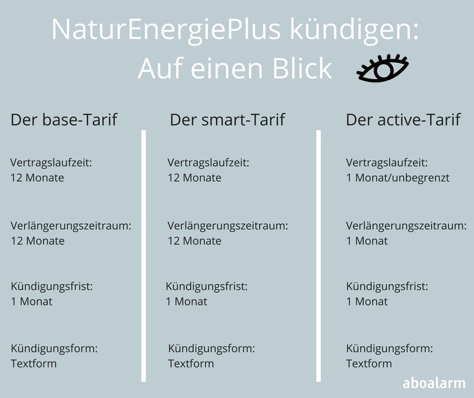 NaturEnergiePlus kündigen