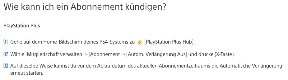 Spiele Flatrate kündigen PlayStation Now