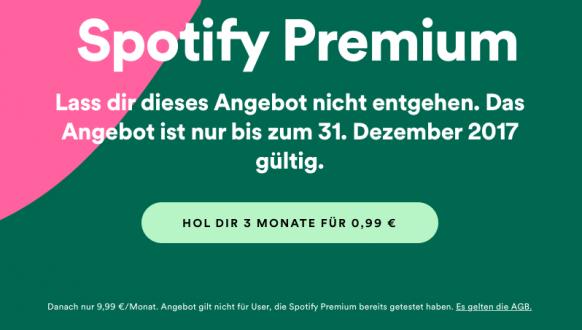 Dezember Aktionen: Spotify Premium Angebot