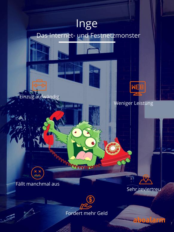 Inge - das Internet- und Festnetzmonster Steckbrief