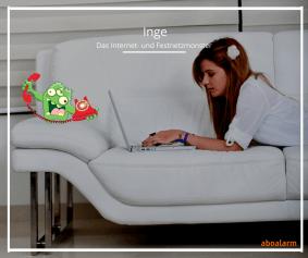 Inge - das Internet- und Festnetzmonster surfen im Internet