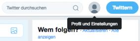Twitter Account löschen