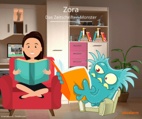 Zora - Das Zeitschriften-Monster liest