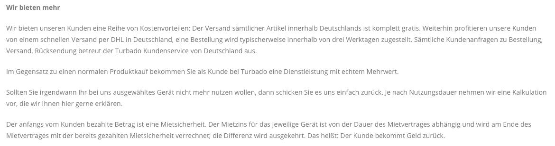 Handy mieten statt kaufen: Schwammige Werbeversprechen von turbado.de