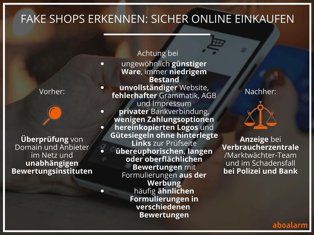 Fake Shops erkennen Sicher online einkaufen