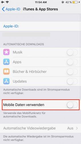 Datenvolumen sparen iPhone und Apple