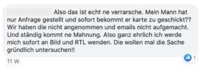 Credifant Facebook-Beschwerde 1