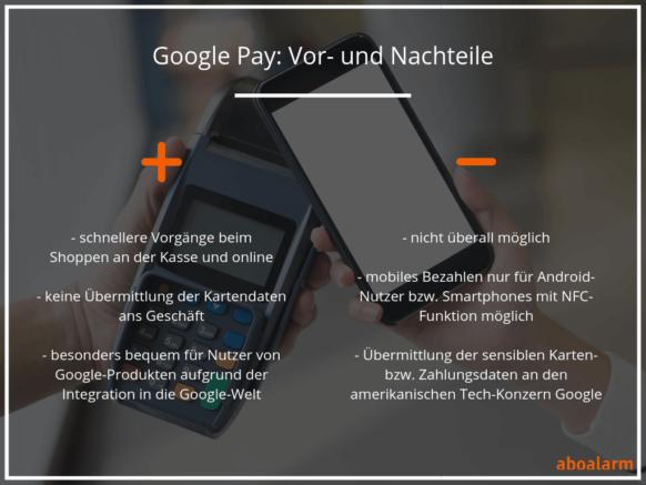 Google Pay Vor- und Nachteile
