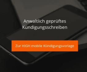HIGH mobile Kündigungsvorlage