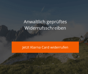 Klarna Card Widerrufsvorlage