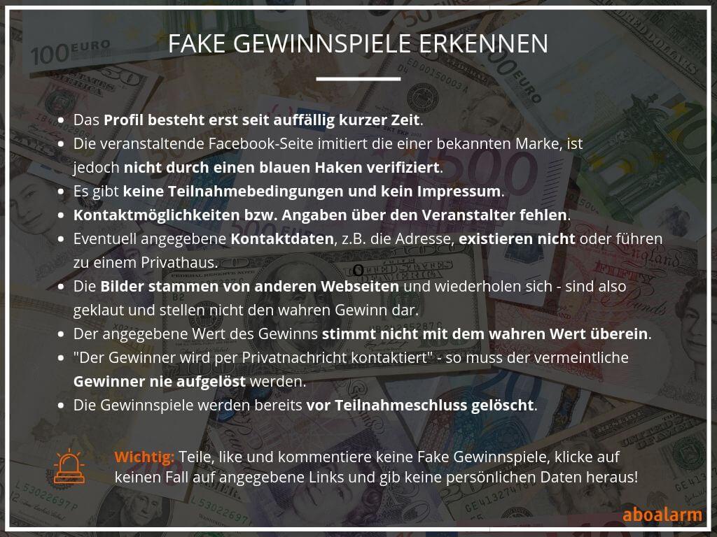 Fake Gewinnspiele erkennen