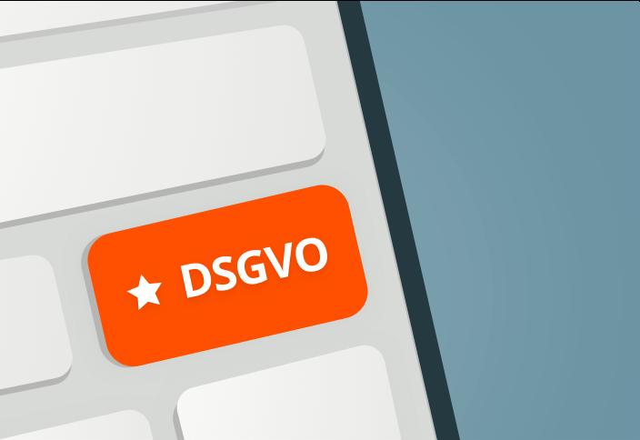 Schematische Darstellung einer Tastatur mit dem Aufdruck DSGVO