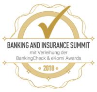 Auszeichnung von BankingCheck Award 2018