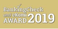 Auszeichnung von BankingCheck Award 2019
